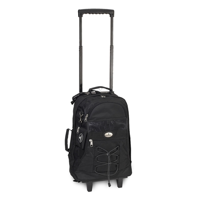 Backpack with Wheels - Black