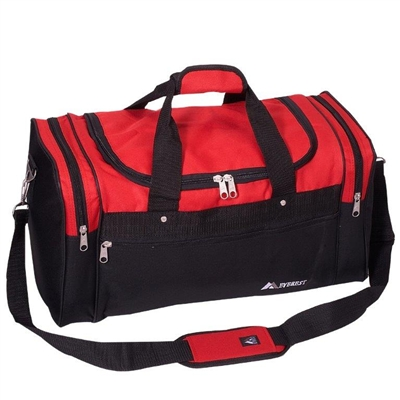 21 in Sport Duffel Bag Red and Black