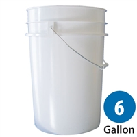 6 Gallon Plastic Pail