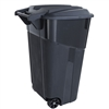 Trash Can with Wheels - 34-Gallon