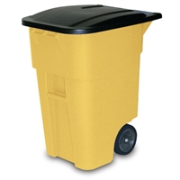 Square Big Wheel Container - 50-Gallon