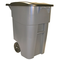 Trash Can with Wheels Gray - 50-Gallon