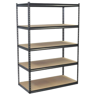 "5 Shelf Steel Boltless Shelving - 48"" W x 24"" D x 72"" H"