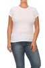 """Hip"" Plus size Women Tees 002-White (12 PC)"