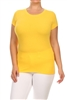 """Lovesweet"" Plus size Women Tees 002-Yellow (12 PC)"