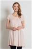 Cap Sleeve Solid Dresses 1002-Blush (6 PC)