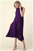 MOCK NECK SLEEVELESS DRESS 1006-PLUM (6 PC)