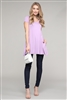 Cap Sleeve Solid Hue Tunic 81001-Violet(6 pc)