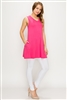 Solid Tank Tunic with side pockets 81002-Coral-(6 PC)