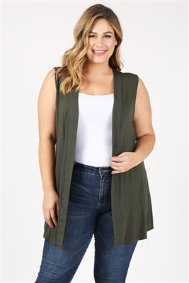 wholesale plus size cardigan vest