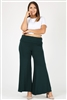 KNIT FOLD-OVER WAIST PALAZZO PANTS 9001X-HUNTER-GREEN (6 PC)