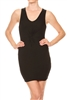 Crisscross Center Dress BD-1870-Black (6 PC)