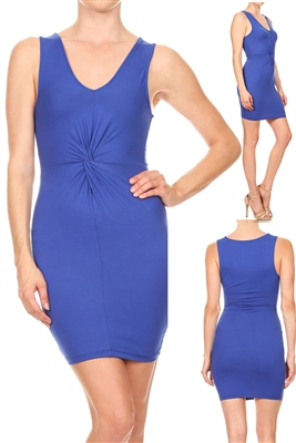 Crisscross Center Dress BD-1870-Blue (6 pc)