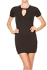 Keyhole Dress BD-1896-Black (6 PC)