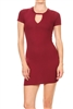 Keyhole Dress BD-1896-Burgundy (6 PC)