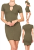 Keyhole Dress BD-1896-Olive (6 PC)