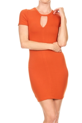 Keyhole Dress BD-1896-Rust (6 PC)