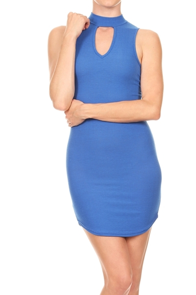 Keyhole Dress BD-2061-Blue (6 PC)