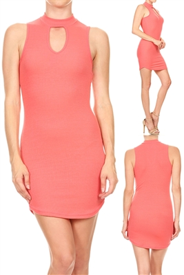 Keyhole Dress BD-2061-Coral (6 PC)