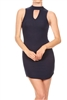 Keyhole Dress BD-2061-Navy (6 PC)