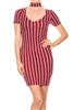 Chocker Neckline Dress BD-2103-Burgundy (6 PC)