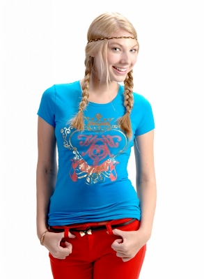 Wholesale Top C-123-Turquoise (6 pc)
