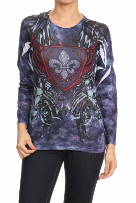 Fleur de lis Sublimation Top CL-2323 (6 pc)