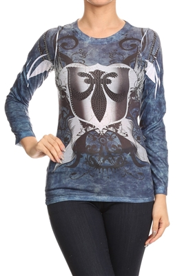 FLEUR DE LIS SUBLIMATION TOP CL-2324 (6 pc)