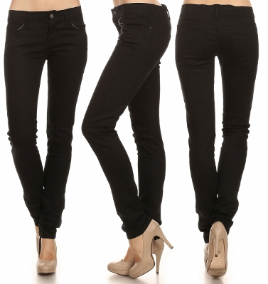 Wholesale Pants Basic 5 Pockets EM-001 Black (19 pc)