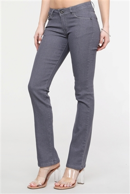 wholesale denim bootcut gray jeans EP-041-(12 pc)