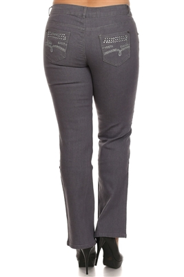 EPB-049 Plus Size Denim Jeans Grey (12 pc)