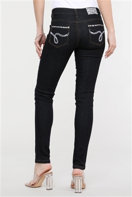 wholesale distressed denim jeans EPS-205D Black