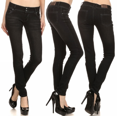 wholesale denim jeans FVS-92 Black
