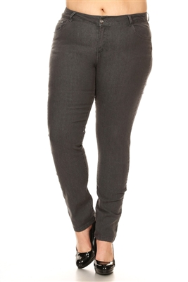 Women Plus Size Pants GPSB-007-Charcoal