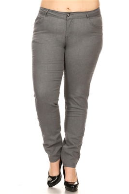 Women Plus Size Pants GPSB-010-Gray