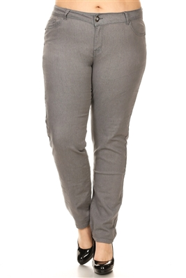 Women Plus Size Pants GPSB-011-Gray
