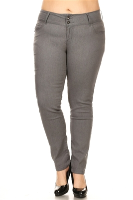 Women Plus Size Pants GPSB-012-Gray