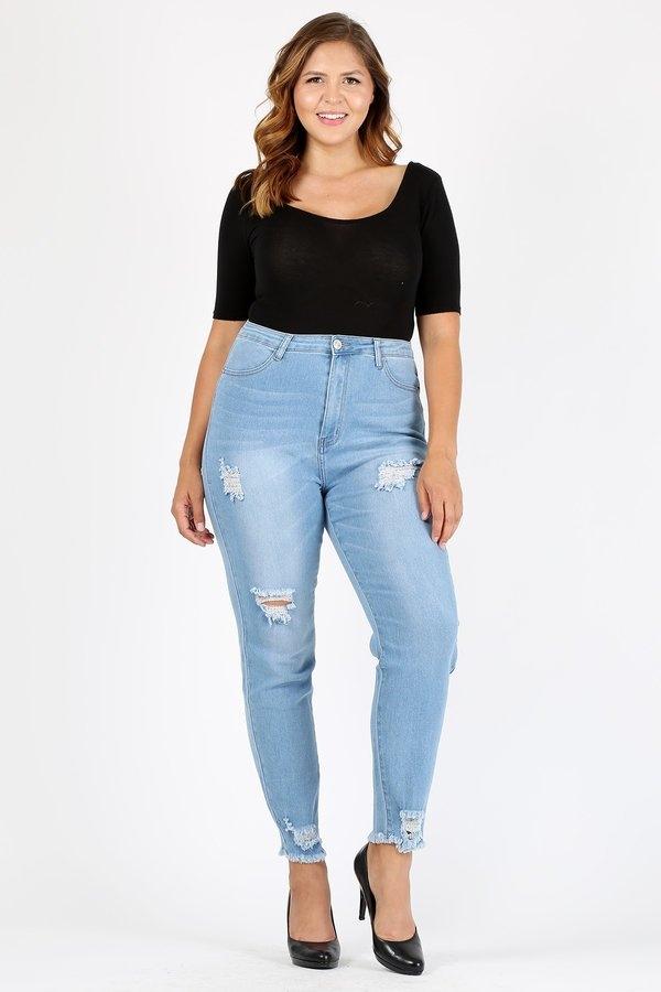 8a1b4fe9dc8 wholesale women plus jeans | jeans plus mujer de mayoreo