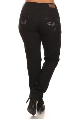 Wholesale jeans plus size LPSB-352-Black