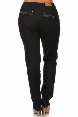 Wholesale jeans plus size LPSB-4014-Black
