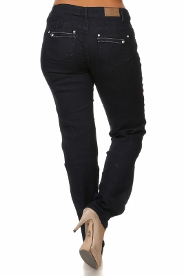 Wholesale jeans plus size LPSB-4014-Navy