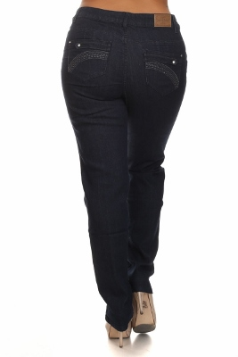 Wholesale jeans plus size LPSB-4015-Navy