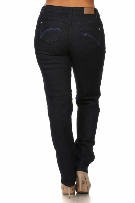 Wholesale jeans plus size LPSB-5005-Navy