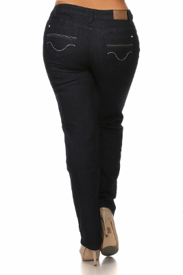 Wholesale jeans plus size LPSB-5007-Navy