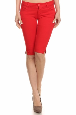 wholesale Ponte Bermudas LRB-02-Red