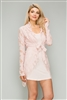 Knit Lace Open Front Dress M6289B Peach 2pc set (6 PC)