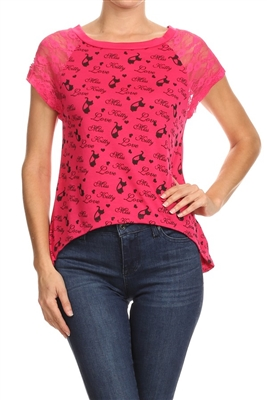 Wholesale Top MKCS-2004-FUSHIA