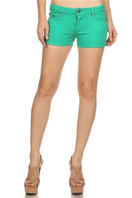 Miss Kitty Couture Shorts MKCS-301 Green