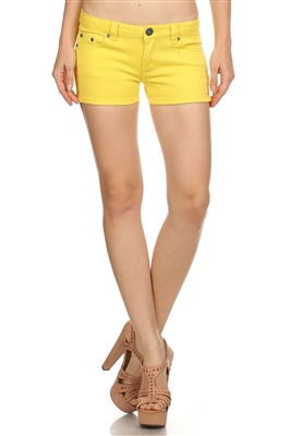 Miss Kitty Couture Shorts MKCS-301 Yellow