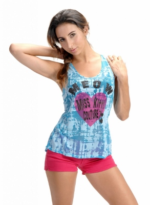 Wholesale Top MKCT-1003-Turquoise